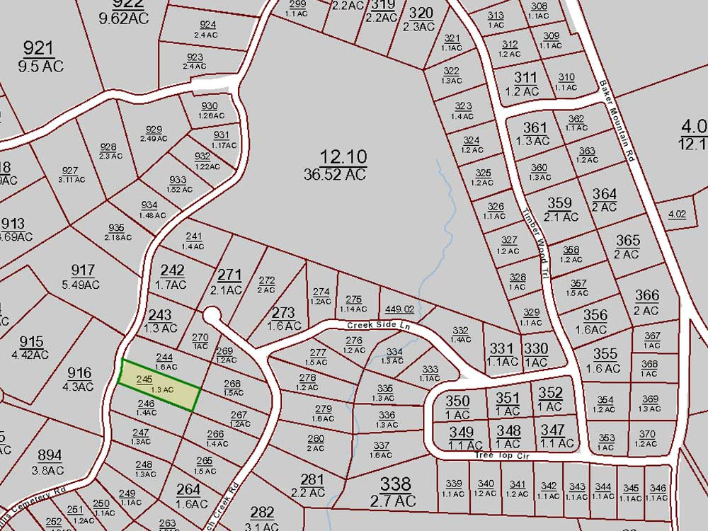 Spencer County Property Map