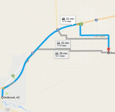 Directions to holbrook