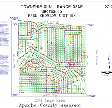 Apache County Plat Map