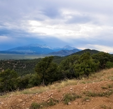 Looking North West to Mt Blanca