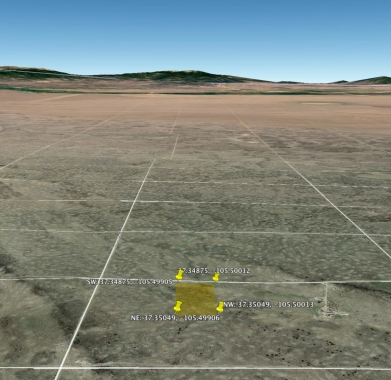 Google Earth - Looking South